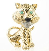 "The Tigre Clip, 1967,Van Cleef and Arpels' Collection""la Boutique"""