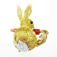 "Le Lapin Clip, 1968, Van Cleef and Arpels' Collection""la Boutique"""