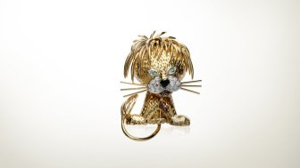 "Lion ébouriffé clip (1966), Van Cleef and Arpels, Collection ""la Boutique"""