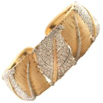 Diamond Leaf Cuff Bracelet.sophiworldblog.com