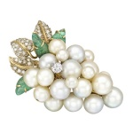 seaman-schepps-grape-cluster-brooch-pearl-diamond-emerald