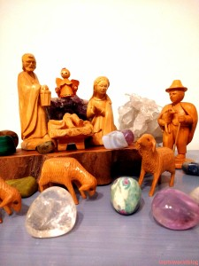 Nativity Scene with Gems! Read more on www.sophiworldblog.com