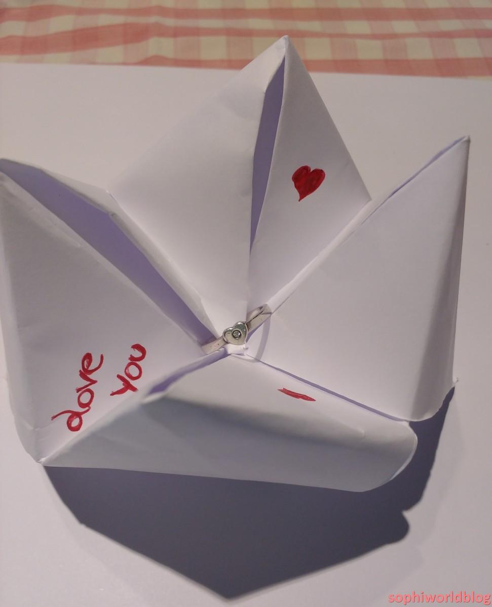 Hidden Jewel in origami. Valentine's Jewellery. Read more on www.sophiworldblog.com